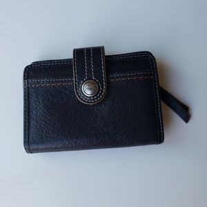 Fossil wallet small black leather